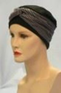 Picture of Grey & Black Striped Wrap - Hair World