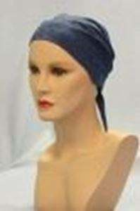 Picture of Eyelet Scarf Denim Blue - Hair World