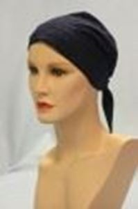Picture of Eyelet Scarf Navy - Hair World
