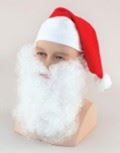 Picture of Father Christmas Beard - Nylon 7 Inch - MB034
