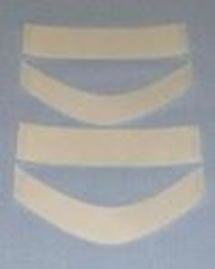 Picture of 3 pre-cut double sided transparent tape""