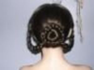 Picture of Lady's Wig 1852-1875 - Back View