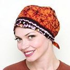 Picture of Batik Headscarf - Natural Image