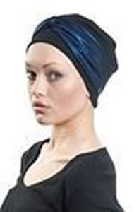 Picture of Hair World Anna Hat With Metallic Blue Wrap