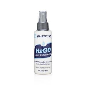 Picture of Walker H 2 Go water based adhesive remover.  4 ozs and 12 ozs.