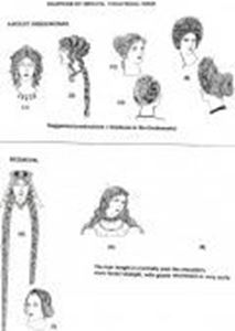 Picture of Ancient Greek-Roman and Mediaeval  Wigs - Sketches